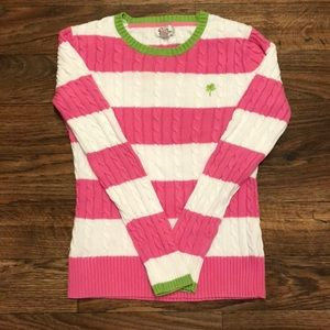 Lilly Pulitzer Pink and White Striped Sweater